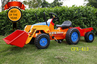 New style Car Toys Pedal Tractor Kids Toy Ride On Excavator 413