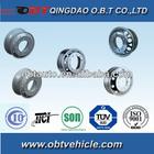 Forged alloy wheel rims for 6 wheel dump truck