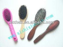 Bristle Mixes Nylon Massage Paddle Wooden Hair Brush