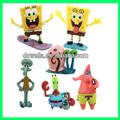 Personnalisée jouet de dessin animé/3d en plastique de promotion pvc chiffres/adultes chiffres de pvc, spongebob pvc chiffres anime jouets