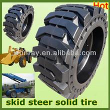 top sales with wheel rims bobcat skid steer loader solid tires 10-16.5