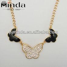 dancing butterfly swings necklace/acrylic bead bib necklace