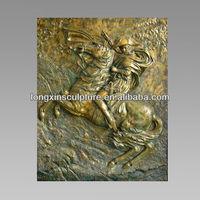 Napoleon on Battle Steed Relief Bronze Wall Relief