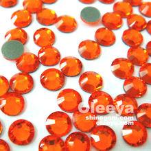 DMC Hotfix Rhinestone for Nail Art on Sell.Full Size SizSS20 Orange Color Environmental Friendly Hot fix Rhinestones