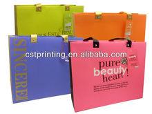 cute pink printing paper shopping gift bag