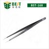 BEST-168 Cheap stainless steel tweezers for computer repair tools