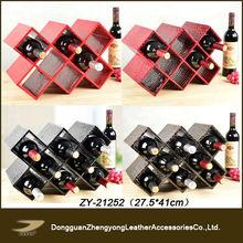 ZY-21252 JANYO wholesale leather tree wine racks,grape wine rack