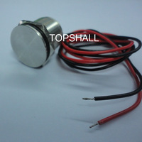 19mm vandal resistant waterproof piezo touch switch with wire