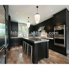 Modern pvc kitchen cabinet with quartz stone countertop