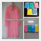 Custom colorful disposable poncho raincoat