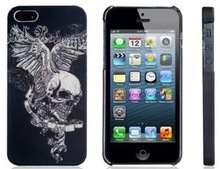 Night light skull heads cell phone case for iphone 5S 5C