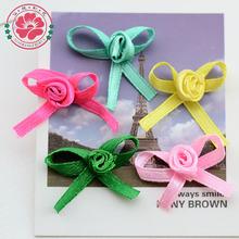 1-40 Cheap colorful rose decoration card making ribbon bow gift ribbon bow making