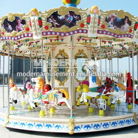 Outdoor playground amusment antique carousel for sale