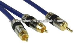 RCA cable / audio vedio cable /3.5mm male to male stereo cable