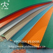 Excellent Quality Lychee Pattern PVC Flooring, PVC Sports Flooring for Indoor Basketball/tennis/badminton/volleyball Court Used