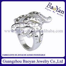 anillo plata de joyeria de acero inoxidable con forma regular,al por mayor