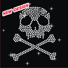 Beautiful hotfix clothing rhinestone designs skull S 1 (121)