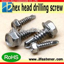 hex flange head self-drilling screw zinc plated