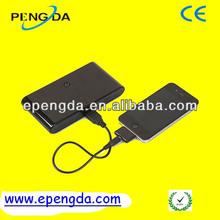2012 portable gift high capacity power bank 10400mah,dual power bank 20000