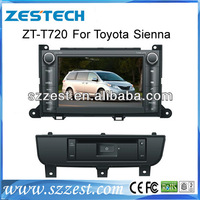 ZESTECH special Car Gps For Toyota Sienna car dvd GPS with buletooth, canbus,TV, FM, RDS,steer wheel control, TV,functions