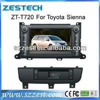 ZESTECH Car dvd gps navigation for Toyota Sienna with dvd radio system stereo TV Bluetooth DVB-T