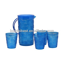 Plastic Pitcher with cups in set
