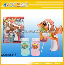 Sıcak şeffaf mini balık kabarcık silah ışıkları( 2 şişe kabarcıklar) promosyon ürün için