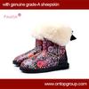 Colorful flower printing kids designer boots