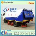 Dongfeng chasis 4x2 barrendero camiones/de camiones por carretera/de succión de barrido de los vehículos