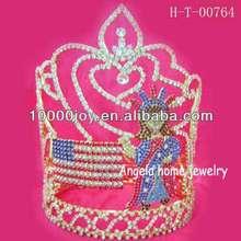 NEW years tiara,Patriotic crown tiara
