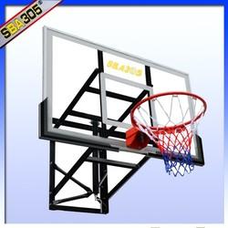 basketball back wall for fiberglass basketball backboard