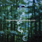 Hanging Crystal Stars And Moon Solar Mobile With Bright LEDs Light