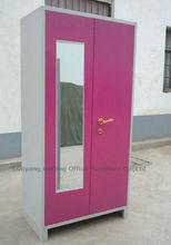 Mirror Double Door Steel Wardrobe Design From Luoyang