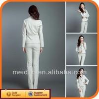 2014 Fashion Cheap White Women Pant Winter Suit Lady's