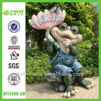 Light Welcome Garden Resin Frog Figurine