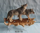 Polyresin animal figurines of wolf for home decor
