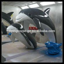 TS-009 Outdoor Fiberglass Dolphin Statues