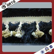 Fashion Pompom Tassel Curtain Fringe,Trimming Lace with Fine Design for Dress,Garment Decoration