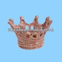 Light pink votive wedding crown candle holder