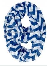 most popular fashionable chevron infinity scarf