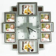 Clocks for elderly with flip clock function photo wall clock