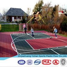 outdoor basketball court playground rubber mat tile floor