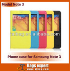 Real leather Smart cell phone case for Samsung Note 3