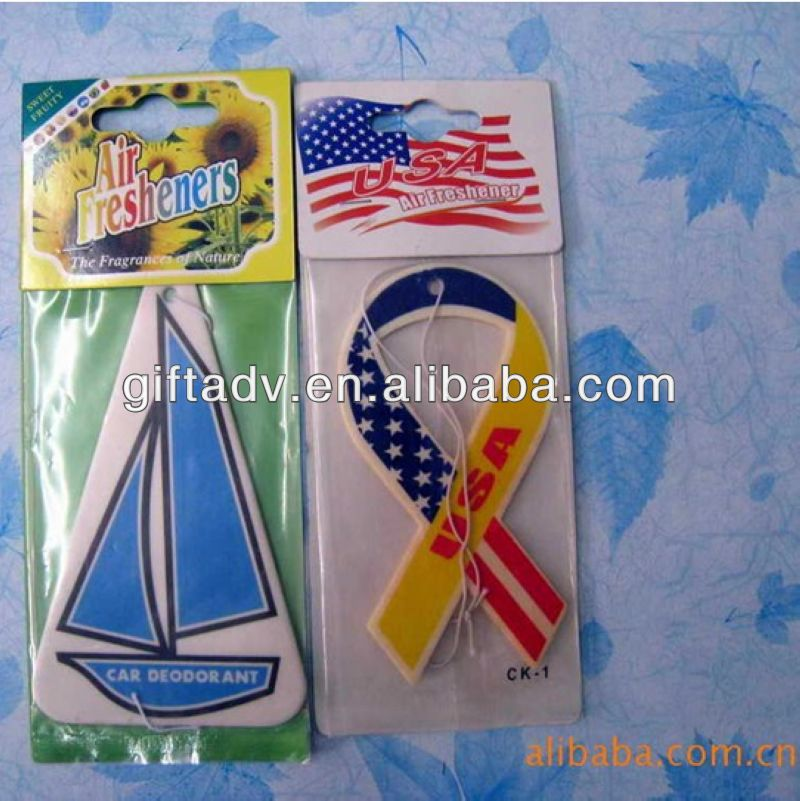 Europe style hot promotion gift hanging car air freshener