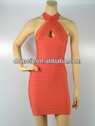 High quality party dress red straps bandage dress 2013 new design bandage dress H173