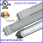 csa led tube 4ft 18w t10 t8 18w dlc ul approved internal/external isolated driver 110lm/w 50000 hours lifespan