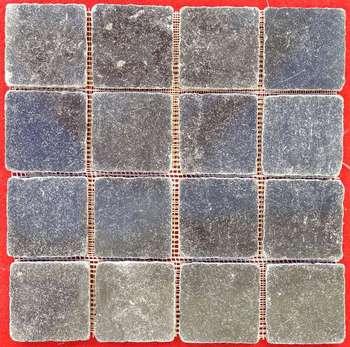 black decorative mosaic tile stones