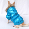Blue Trendy Water-proof & Cold-proof Winter dog apparel pet clothes [FD104D]