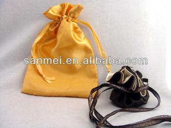 Mini satin drawstring bags
