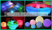 Smart Technology remote control colorful house home bar led table frniture